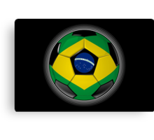 Brazil - Brazilian Flag - Football or Soccer Canvas Print