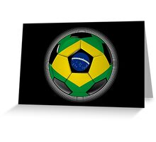 Brazil - Brazilian Flag - Football or Soccer Greeting Card
