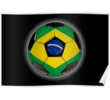 Brazil - Brazilian Flag - Football or Soccer Poster
