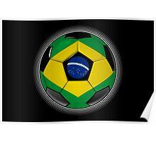 Brazil - Brazilian Flag - Football or Soccer Poster