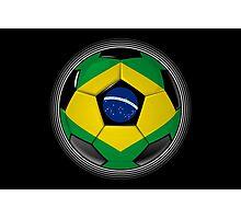 Brazil - Brazilian Flag - Football or Soccer Photographic Print