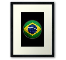 Brazil - Brazilian Flag - Football or Soccer 2 Framed Print