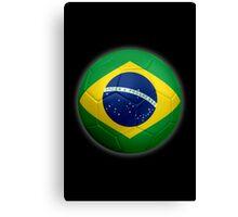 Brazil - Brazilian Flag - Football or Soccer 2 Canvas Print