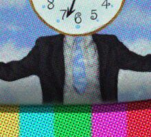 Mr. Clock in Glitch Land Sticker