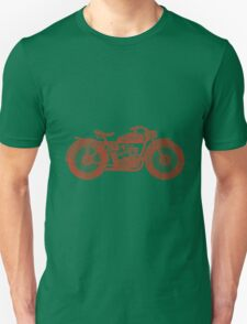 Vintage Motorcycle Hand drawn Silhouette Unisex T-Shirt