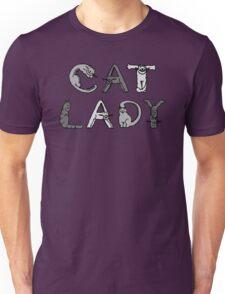 Cat Lady - Cat Letters - Grey Unisex T-Shirt