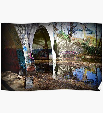 Graffiti in a tunnel Poster