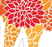 Elephant: Flower Pattern Sticker