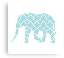 Elephant-Blue Canvas Print
