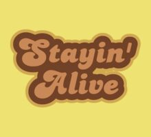Stayin' Alive - Retro 70s - Logo Kids Clothes