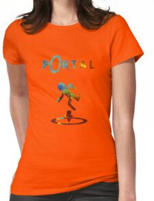 Portal Minimalist Nebula Design Womens Fitted T-Shirt