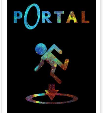 Portal Minimalist Nebula Design Sticker