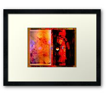 Reality divided by perception Framed Print
