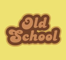 Old School - Retro 70s - Logo Kids Clothes