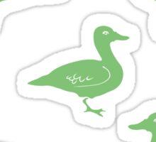 Hand Drawn Duck silhouette seamless pattern. Illsutration Sticker