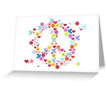 Flowerpower Peace VRS2 Greeting Card