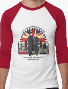 Eliminate the Impossible (Black Text) Men's Baseball ¾ T-Shirt