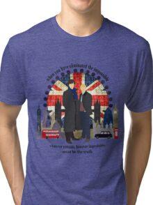 Eliminate the Impossible (Black Text) Tri-blend T-Shirt