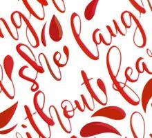 Proverb 31:25 CorRed Sticker