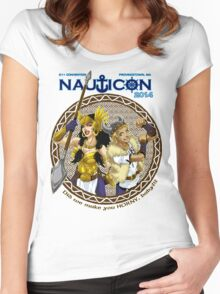 Nauticon 2014 - Did we make you HORNY, baby?!? [with DATE & LOCATION] Women's Fitted Scoop T-Shirt