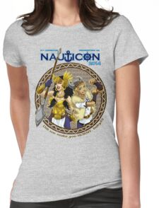 Nauticon 2014 - Did we make you HORNY, baby?!? [with DATE & LOCATION] Womens Fitted T-Shirt