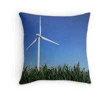 Fields of Green Energy Throw Pillow