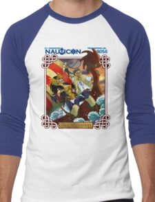 Nauticon 2014 - VIKINGS & VALKYRIES [with DATE & LOCATION] Men's Baseball ¾ T-Shirt