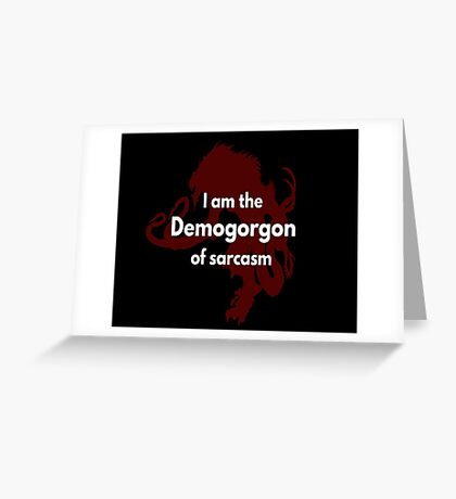 Logo - Demogorgon Greeting Card