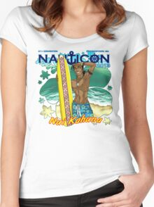 Nauticon 2013 - Nui Kahuna [with DATE & LOCATION] Women's Fitted Scoop T-Shirt