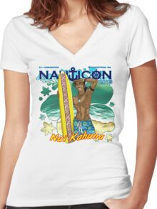 Nauticon 2013 - Nui Kahuna [with DATE & LOCATION] Women's Fitted V-Neck T-Shirt