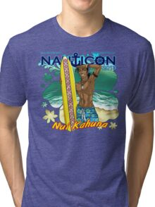 Nauticon 2013 - Nui Kahuna [with DATE & LOCATION] Tri-blend T-Shirt