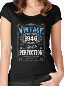 70th birthday gift for men Vintage 1946 aged to perfection 70 birthday Women's Fitted Scoop T-Shirt