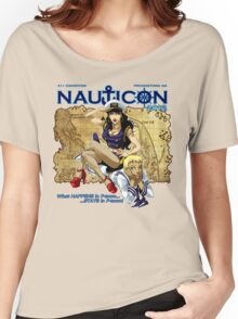 Nauticon 2012 - The Voyage Begins! [with DATE & PLACE] Women's Relaxed Fit T-Shirt
