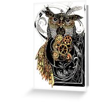 Steampunk wisdom Greeting Card