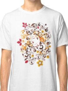 Autumn Girl with Floral 6 Classic T-Shirt