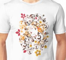 Autumn Girl with Floral 6 Unisex T-Shirt