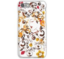 Autumn Girl with Floral 6 iPhone Case/Skin