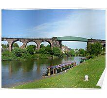Salterford Rail Bridge & Viaduct.......River Weaver......! Poster