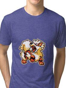 -Pixel Arcanine- Tri-blend T-Shirt