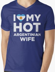 I Love My Hot Argentinian Wife Mens V-Neck T-Shirt