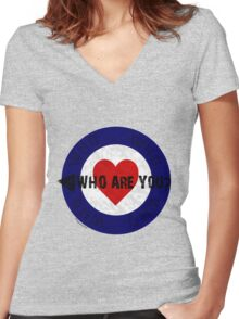 WHO are You? Women's Fitted V-Neck T-Shirt