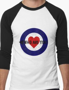 WHO are You? Men's Baseball ¾ T-Shirt