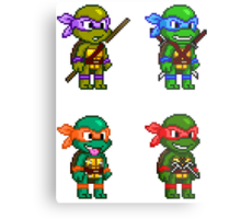 Teenage Mutant Ninja Turtles Pixels Metal Print
