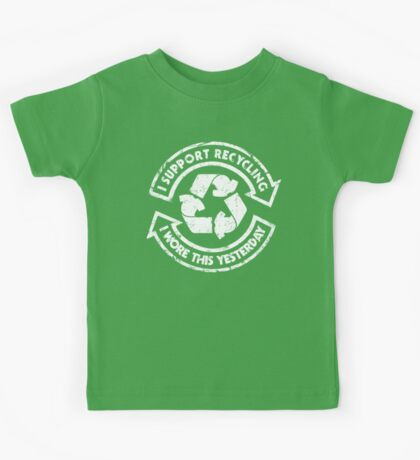 I support recycling Kids Tee