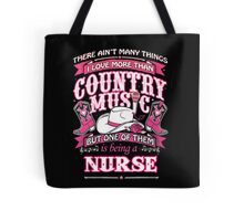 Nurse Loves Country Music Tote Bag