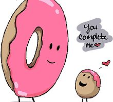 You Complete Me Donuts by kittenkirby