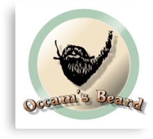 Occam's beard Canvas Print