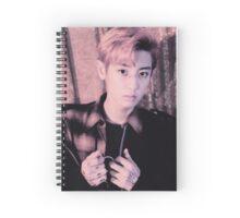 Park Chanyeol in peach Spiral Notebook