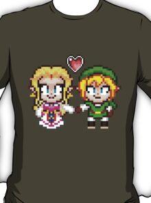 Link and Zelda In Love - Pixel Art T-Shirt