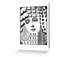 Tangled Face Greeting Card